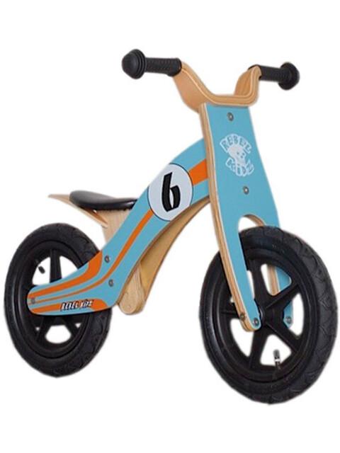 "Rebel Kidz Wood Air - Draisienne Enfant - 12"" Le Mans orange/turquoise"